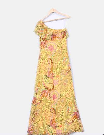 Maxi vestido floral detalle foulard