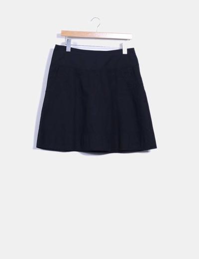Mini falda negra de vuelo Vero Moda