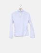 Camiseta blanca cuello vuelto Monica a Laura