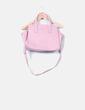 Bolso rosa texturizado DKNY