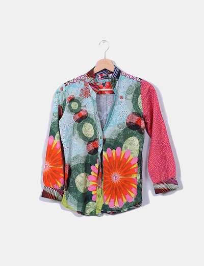 Chemise multi-couleurs à manches longues Desigual
