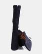 Bottines noires en daim avec imprimé animal Suiteblanco