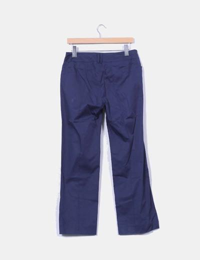 Pantalon azul marino pata recta