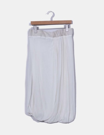 Falda midi doble capa Maje