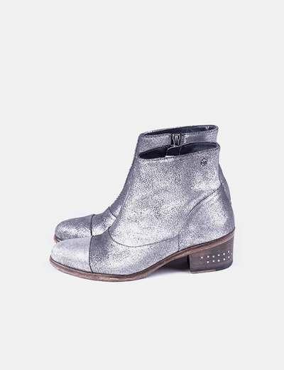 Stivaletti glitter silver IKKS