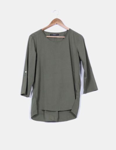 Blusa verde satinado URBAN