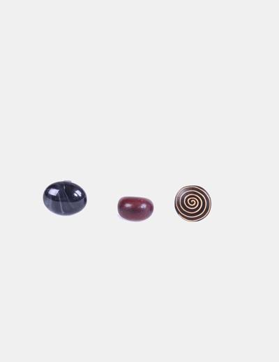 Conjunto 3 anillos madera NoName
