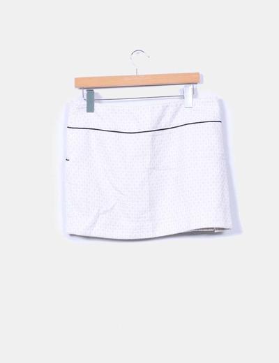 Mini falda texturizada beige