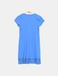 Vestido azul con crochet Cortefiel