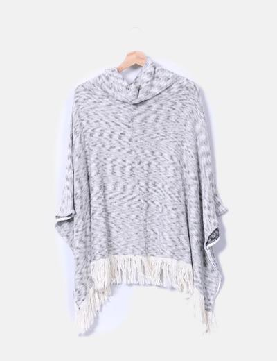 Capa tricot bicolor