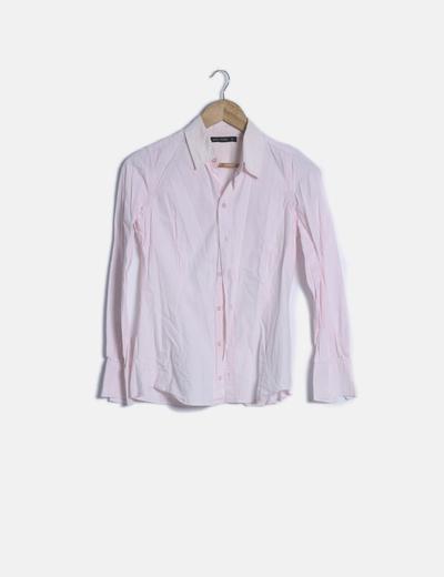 Camisa rosa palo manga larga