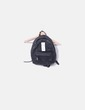 Black leatherette backpack with pocket Zara
