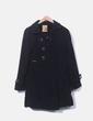 Abrigo largo negro combinado Cheshire