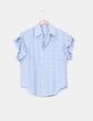 Camisa fluida de rayas mangas blonda Fashion