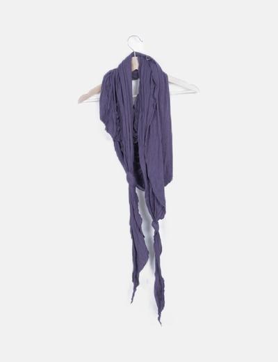 Foulard azul detalle nudos