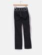 Jeans recto azul oscuro con strass Utopia