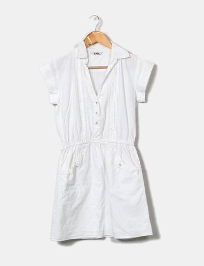 Vestido camisero blanco