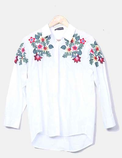 Chemise blanche à fleurs Cindy Kono