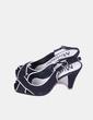 Sandalia negra destalonada Mirinda