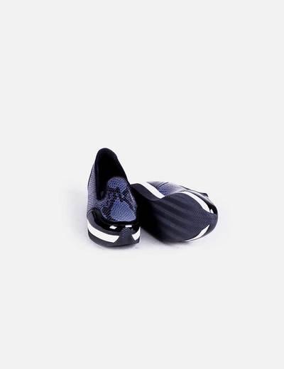 Zapato plataforma combinado serpiente