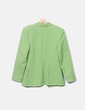 Blazer verde con detalles plastificados Tamaïa