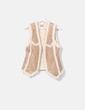 Chaleco antelina con borrego interior Zara