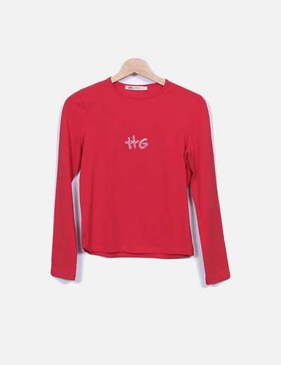 HG Jeans Rotes Shirt-Print-Logo (Rabatt 88 %) - Micolet 5a6e2e5846