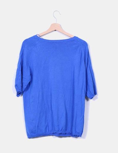 Jersey azul manga francesa