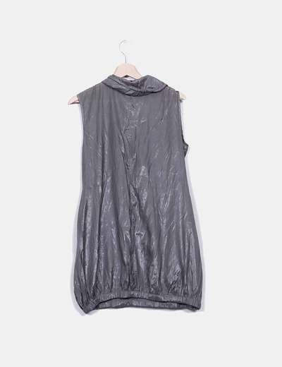 Vestido gris irisado