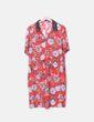 Vestido camisero rojo floral Venca