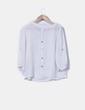Blusa blanca con botonadura trasera Suiteblanco