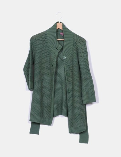 Veste verte en tricot Trucco