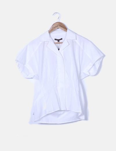 Camisa blanca manga corta