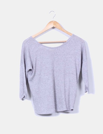 Tricot gris oversize Shana