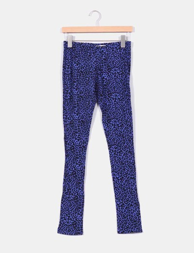 Legging morado con estampado animal print Lefties