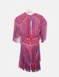 Vestido rayas bicolor con flecos NoName