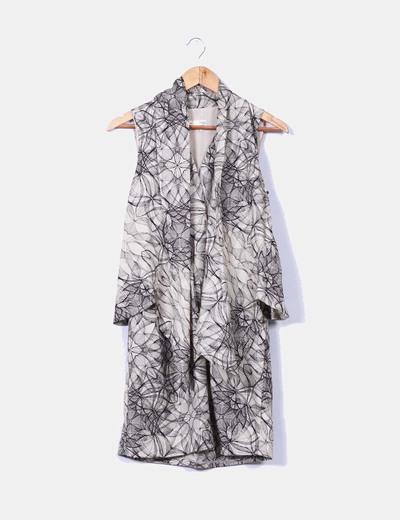 Vestido mini estampado efecto chaleco Hoss Intropia