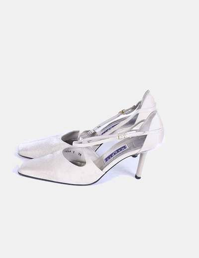 Zapato beige punta cuadrada Magrit