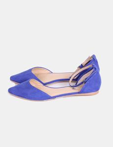 636b3a59902 Sandalia plana azul klein Fórmula Joven