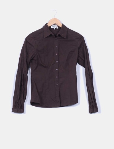Camisa manga larga marron