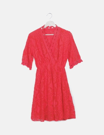 Vestido rojo crochet