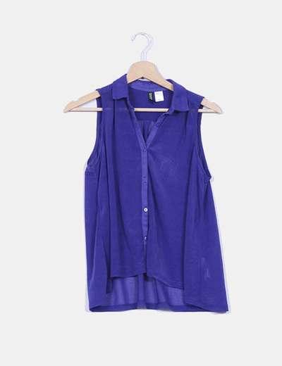 Blusa morada sin mangas  H&M