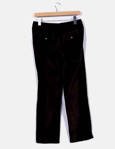 Pantalon recto marron terciopelo