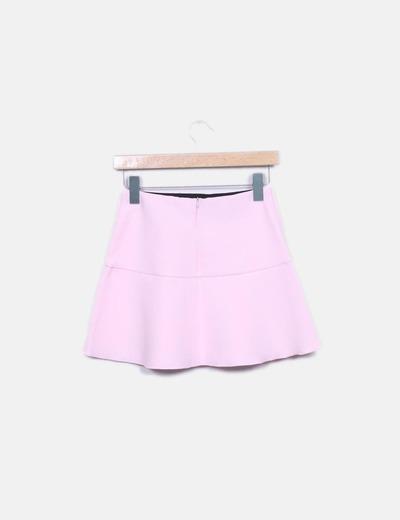 Minifalda rosa volantes