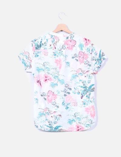 Camisa adornos hawaianos