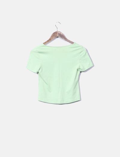 Camiseta de licra cuello pico