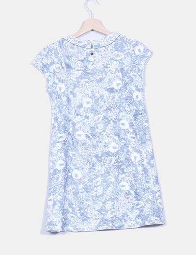 Vestido pichi tweed azul
