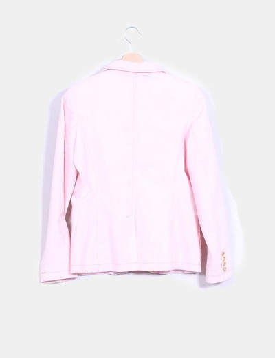 Blazer denim rosa