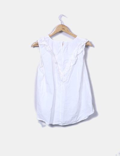 Camisa blanca volantes