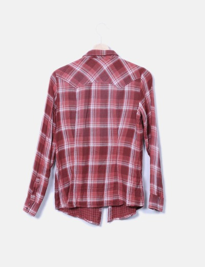 1f581f3fc2 Espirit Camisa de cuadros color teja (descuento 89%) - Micolet